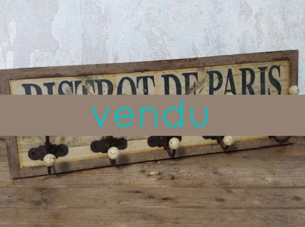 PATÈRES MURALES BISTROT DE PARIS ANCIENNES