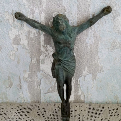CHRIST EN BRONZE ANCIEN CRUCIFIX