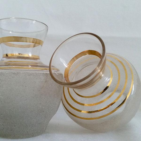 Vase années 50 en verre granité 2