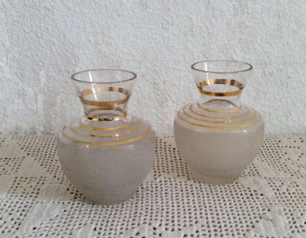 Vase années 50 en verre granité