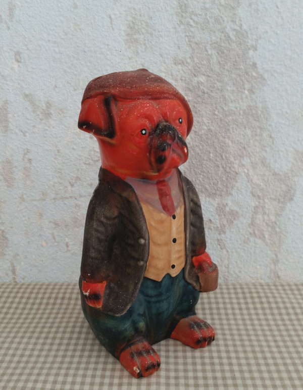 Tirelire chien bouledogue en céramique