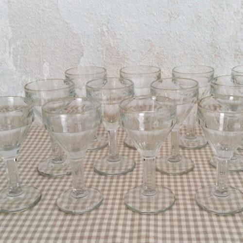 Verres à liqueur en verre soufflé