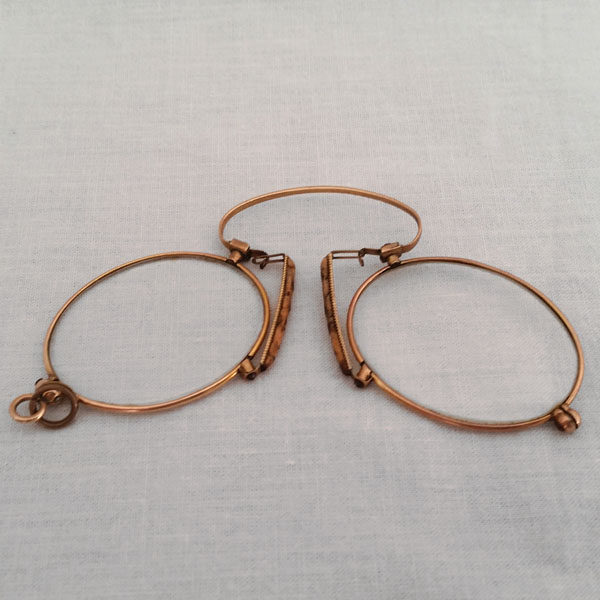 Binocle pince nez en or ancien 2
