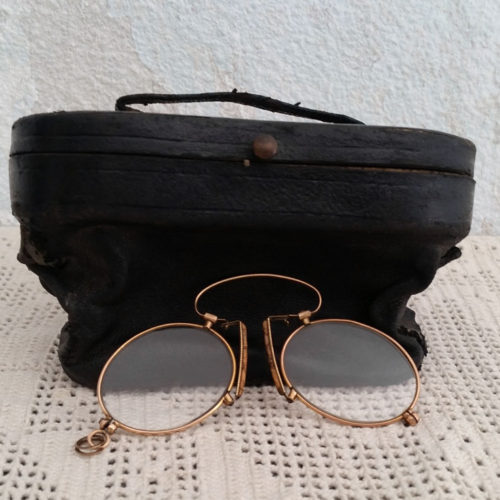 Binocle pince nez en or ancien