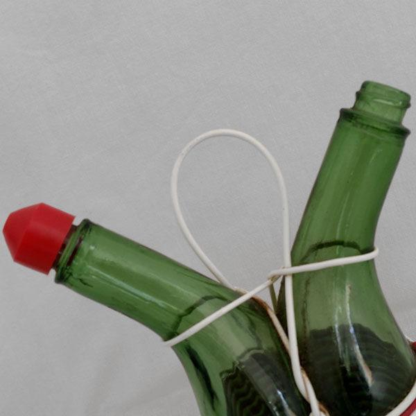 Huilier vinaigrier scoubidou ancien 3