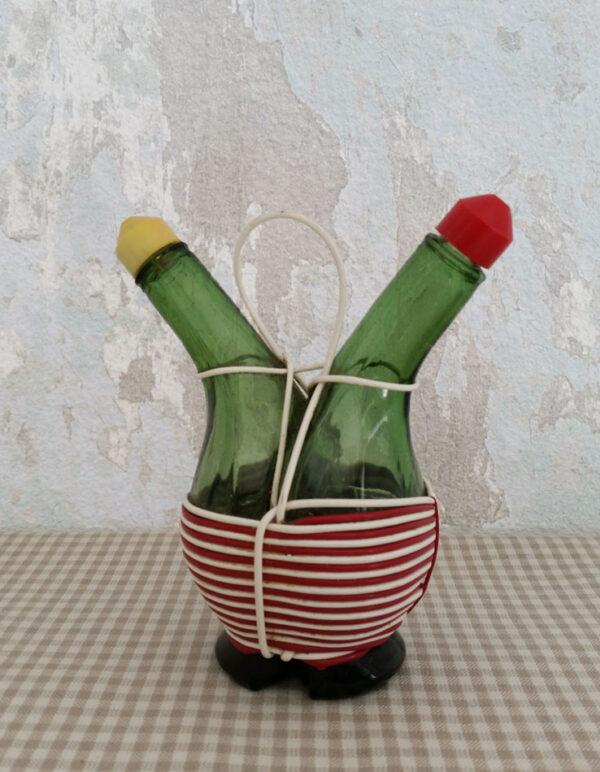 Huilier vinaigrier scoubidou ancien