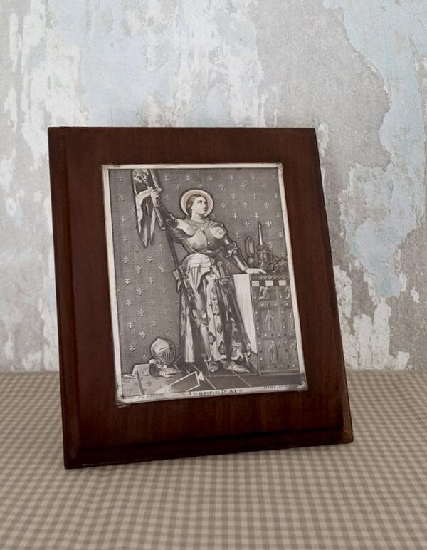 Plaque en cuivre Jeanne d'Arc