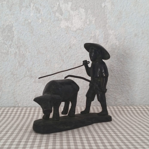 Statuette sculpture en bronze