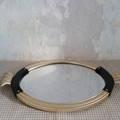 Ancien petit plateau miroir