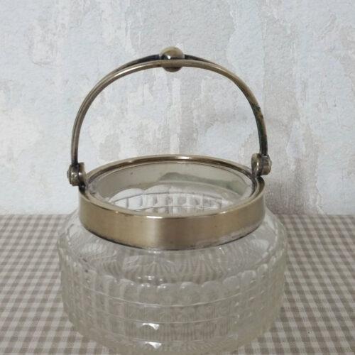 Sucrier cristal taillé ancien