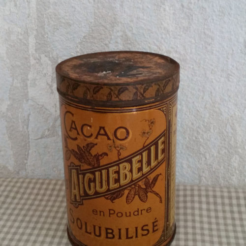 Boîte ancienne cacao d'Aiguebelle