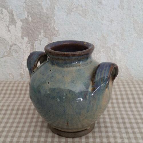 Petit vase en terre vernissée