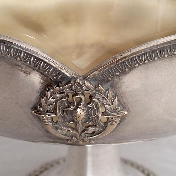 Coupe en métal argenté ancienne 2