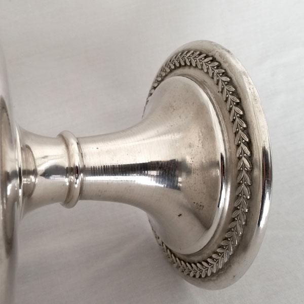 Coupe en métal argenté ancienne 3