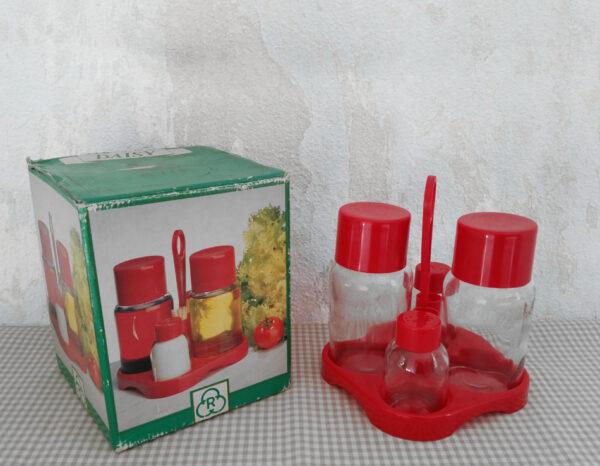 Serviteur à condiments années 70