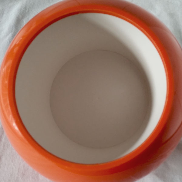 Seau à glaçons boule orange 2