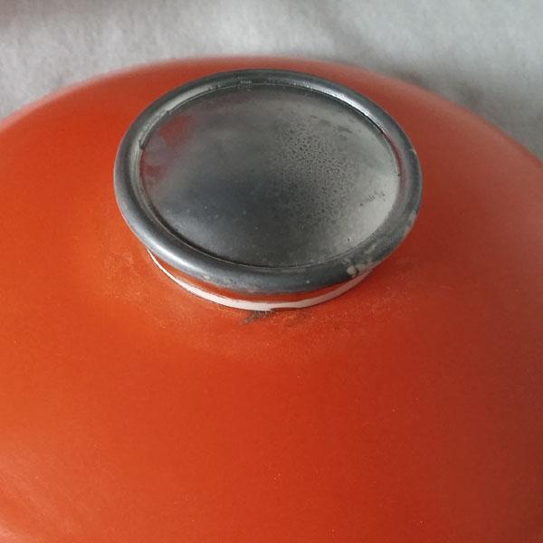 Seau à glaçons boule orange 3