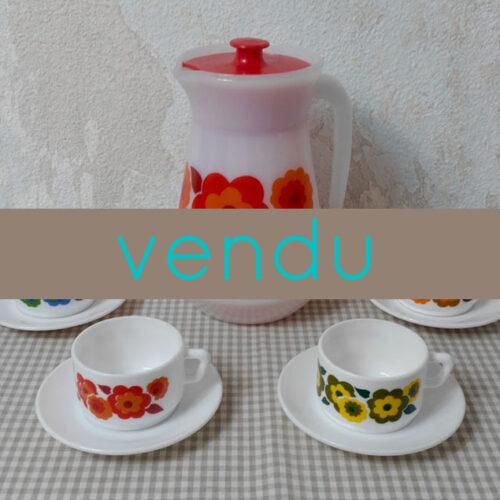 Cafetière et tasses Arcopal Lotus 1
