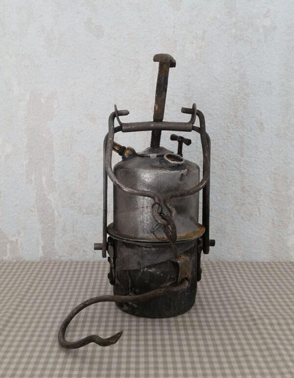 Lampe de mineur acétylène ancienne